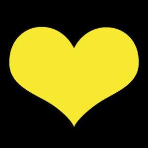 Gelbes Herz als Symbol